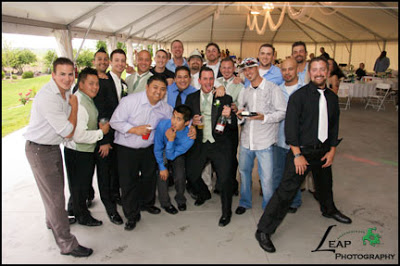 a group of the wedding guests