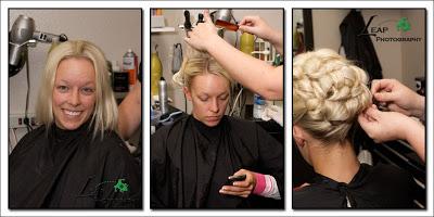Belinda in the hair salon