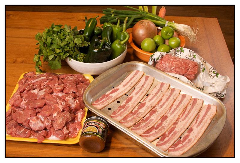 pork loin and bacon