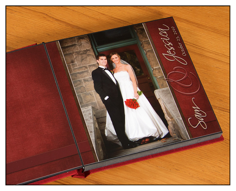 wedding album layout page one