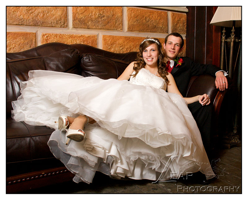 bride and groom wedding portrait