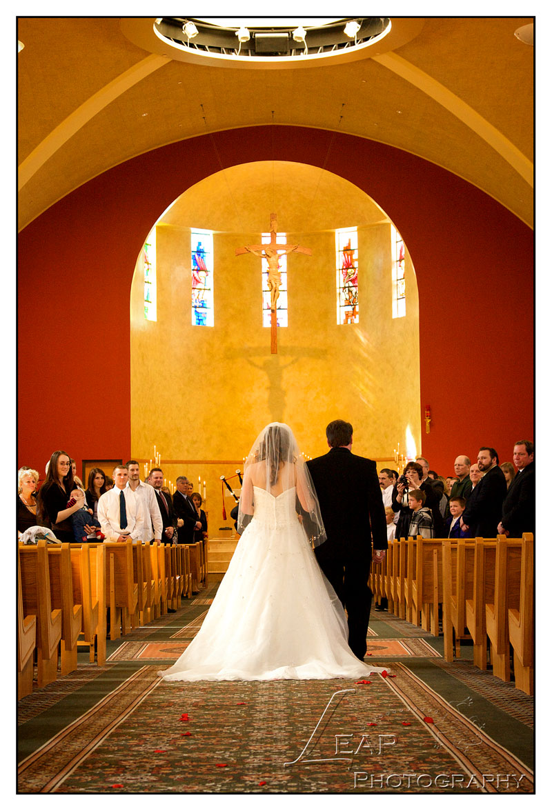Church wedding ceremony photo