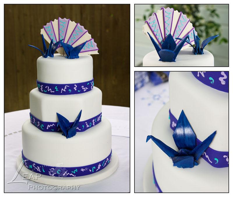 wedding cake with japanese crane