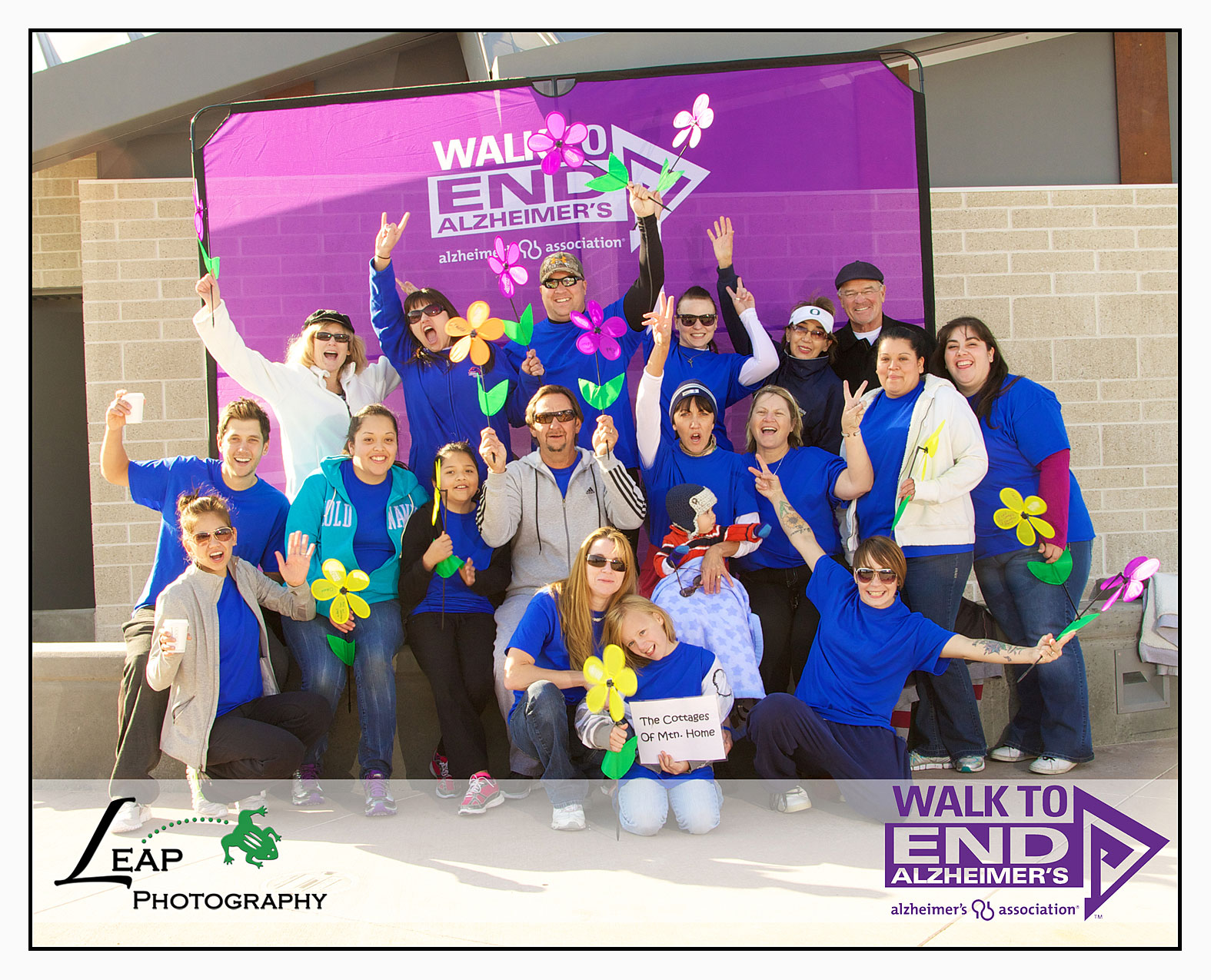 Team portrait at Walk to End Alzheimer's