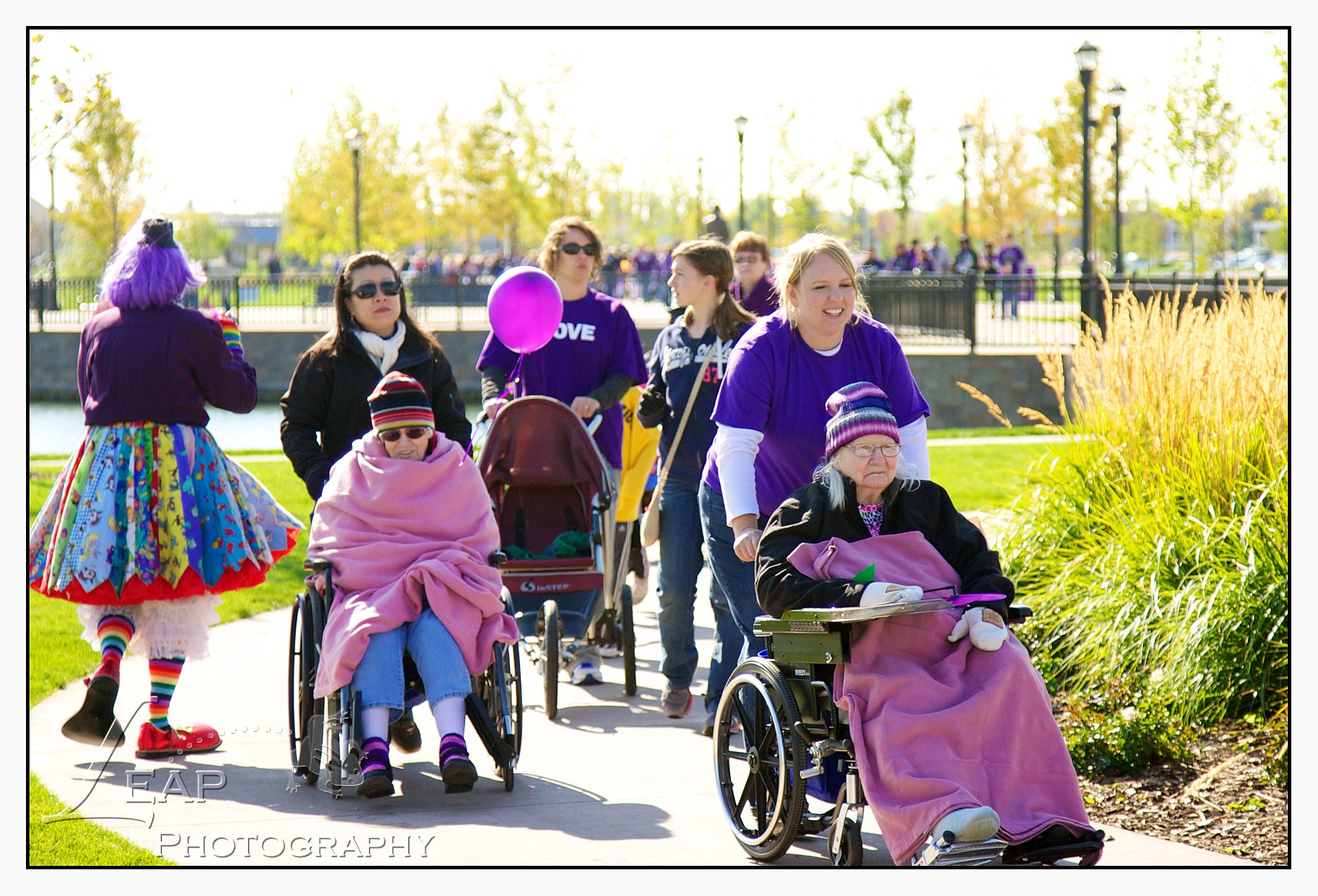 Walkers in Walk to End Alzheimer's Event