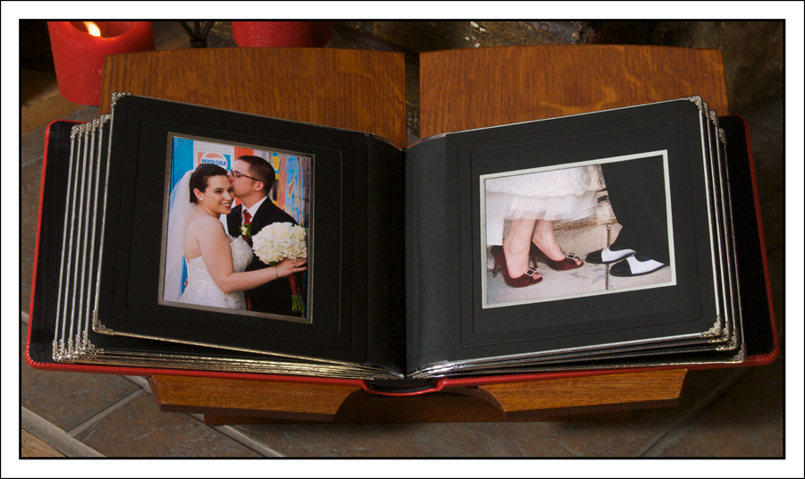 wedding album with mats