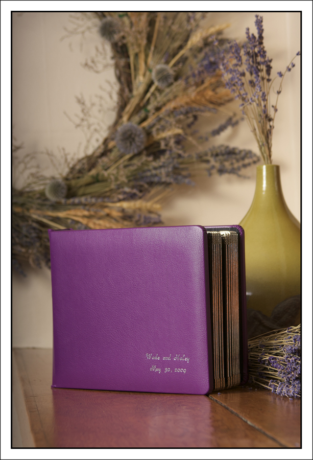 wedding album purple leather