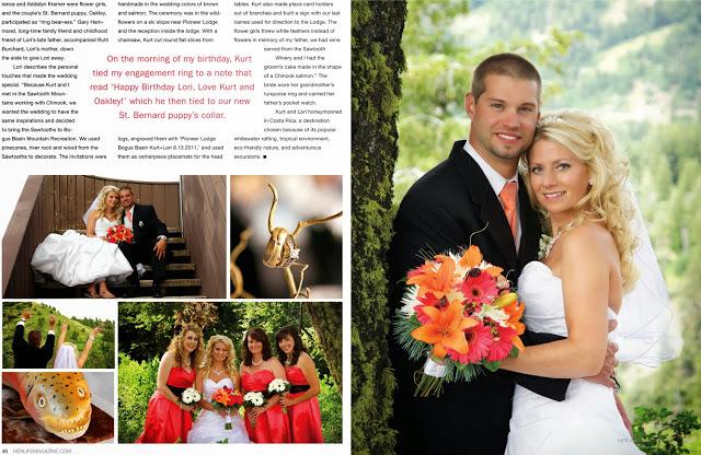 Wedding Photos in 2 page HERLIFE Magazine Spread