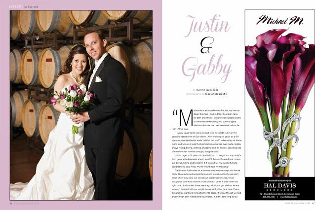 wedding portrait magazine spread