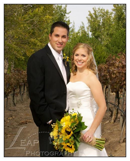 wedding portrait in the vineyard