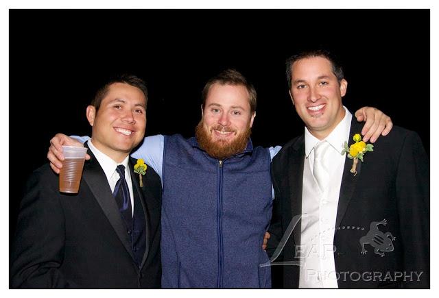 guys having fun at the reception