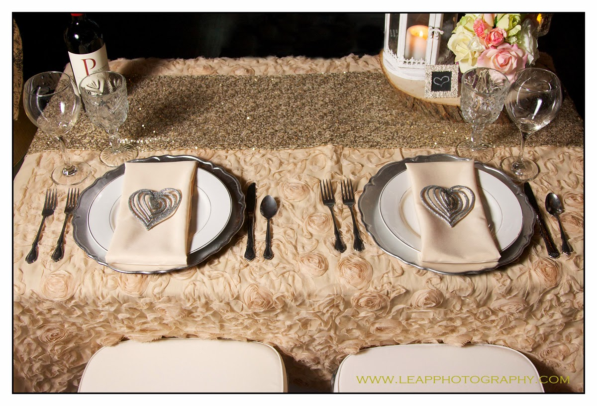 place settings for proposal dinner
