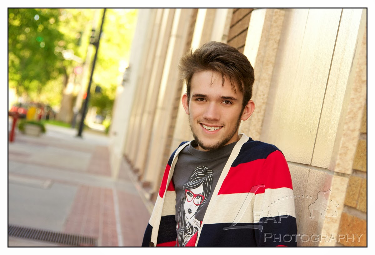 High School Senior portrait in downtown Boise