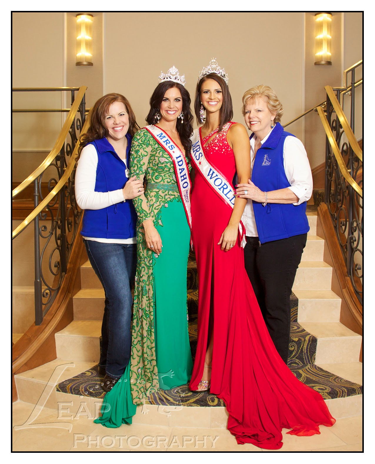 Mrs. Idaho & Mrs. World 2014 with Idaho chairpeople