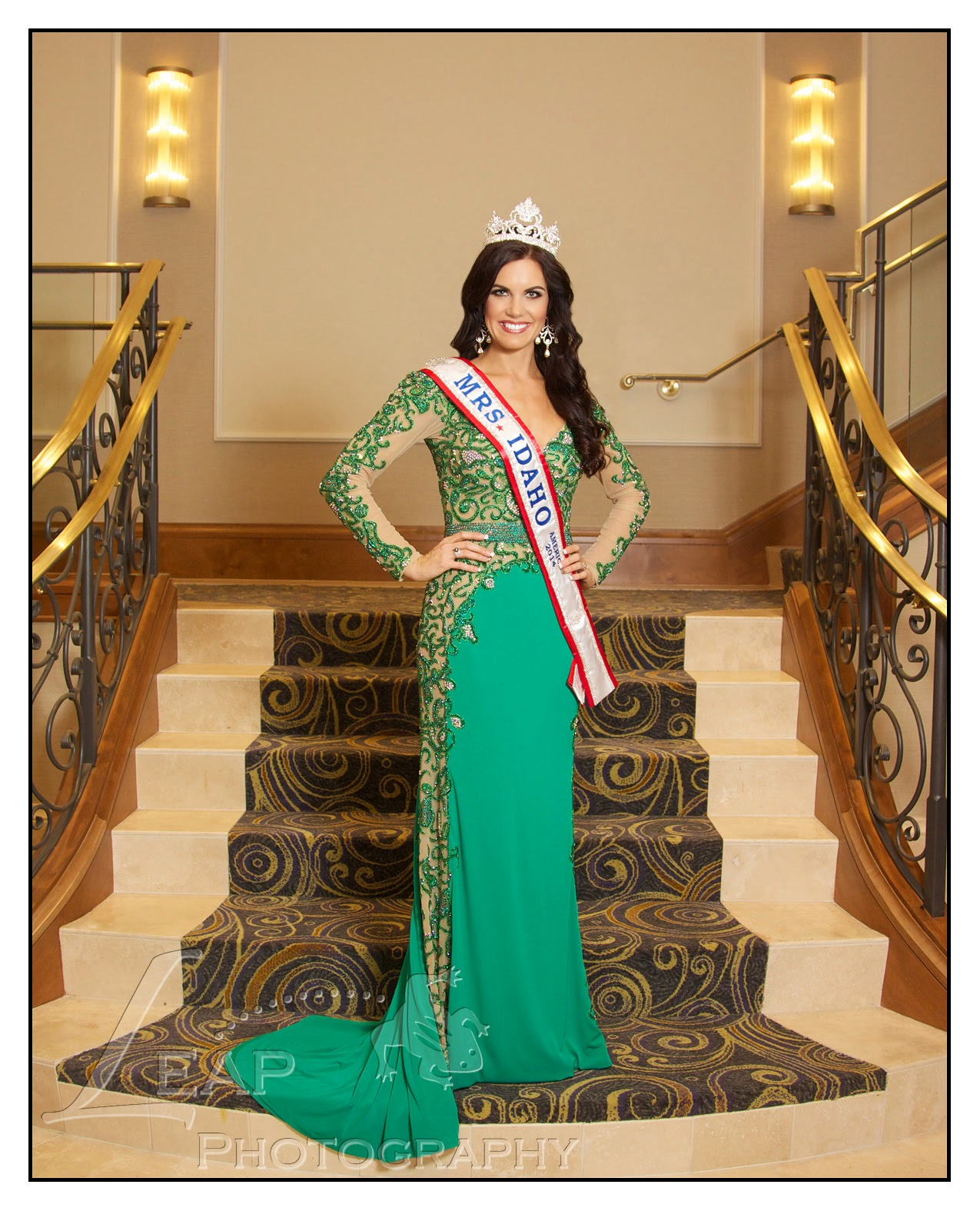 Mrs. Idaho 2014 in formal gown