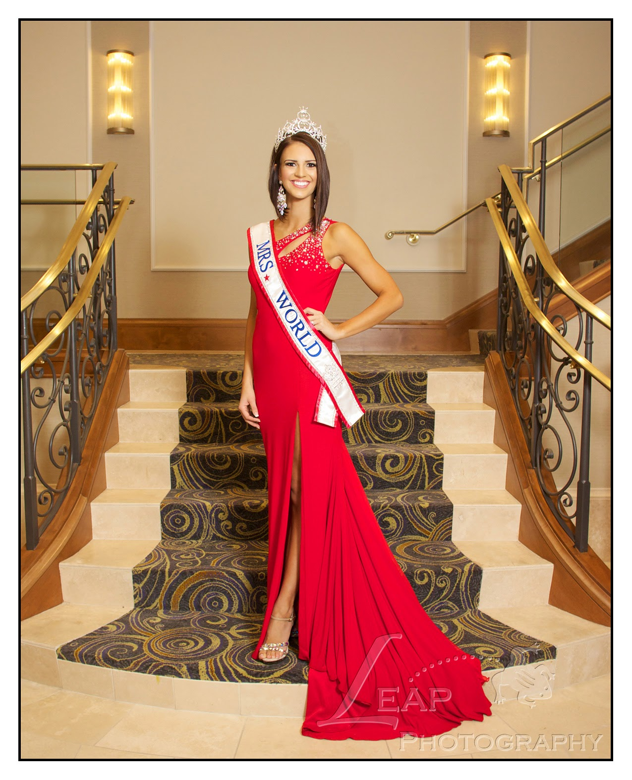 Mrs. World 2014 in formal gown