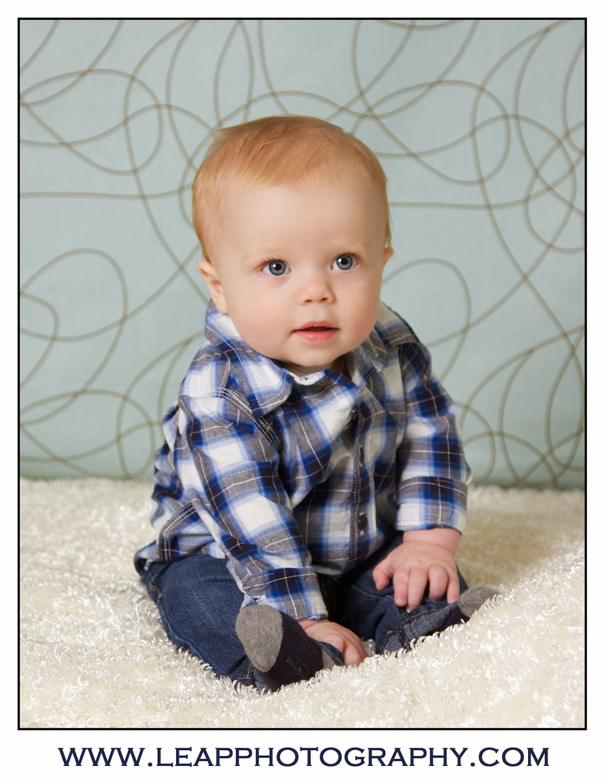 7 month old boy portrait