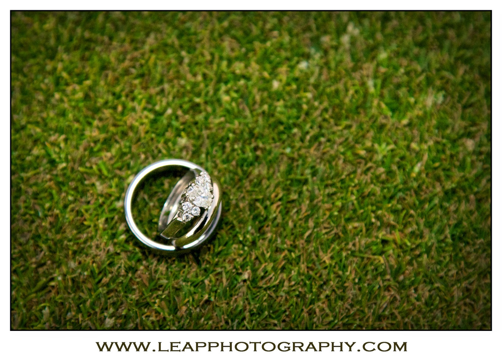 wedding rings on the golf course