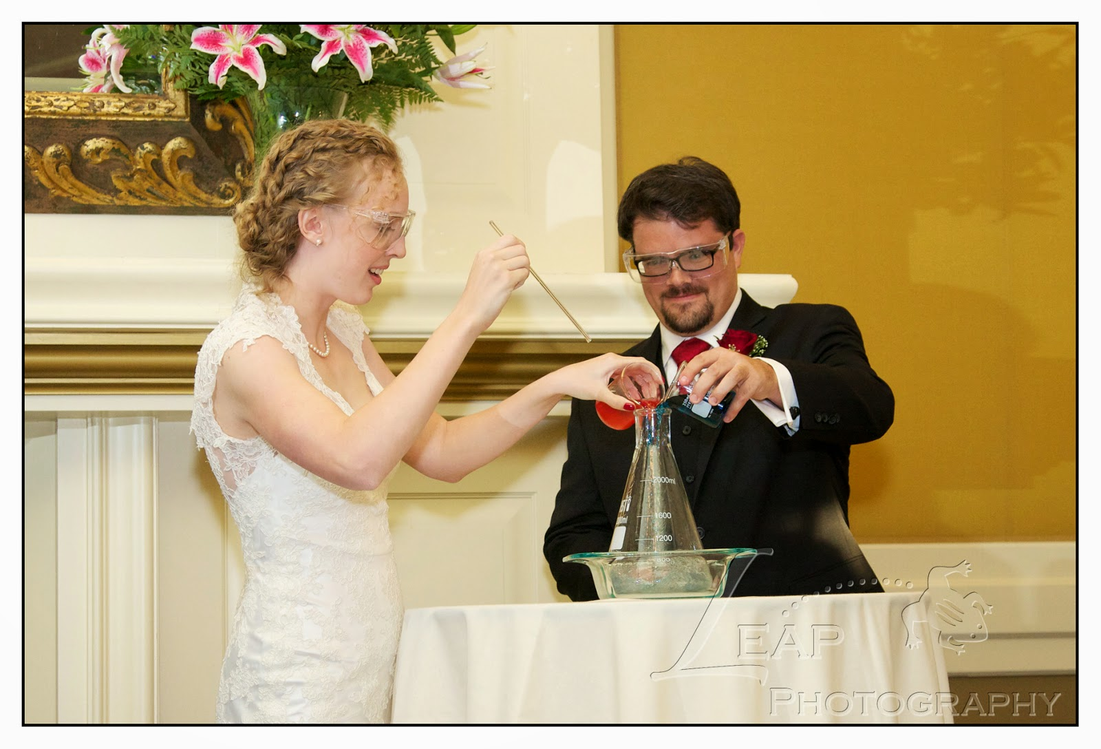 science expirement during the wedding ceremony