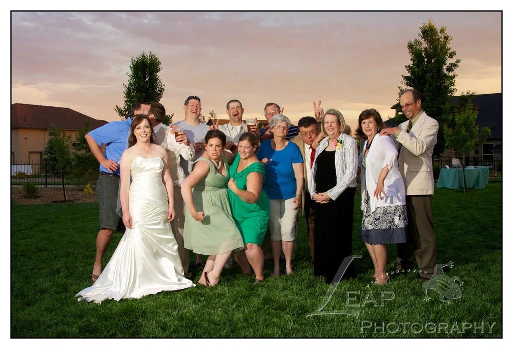 wedding guests having fun at Boise wedding