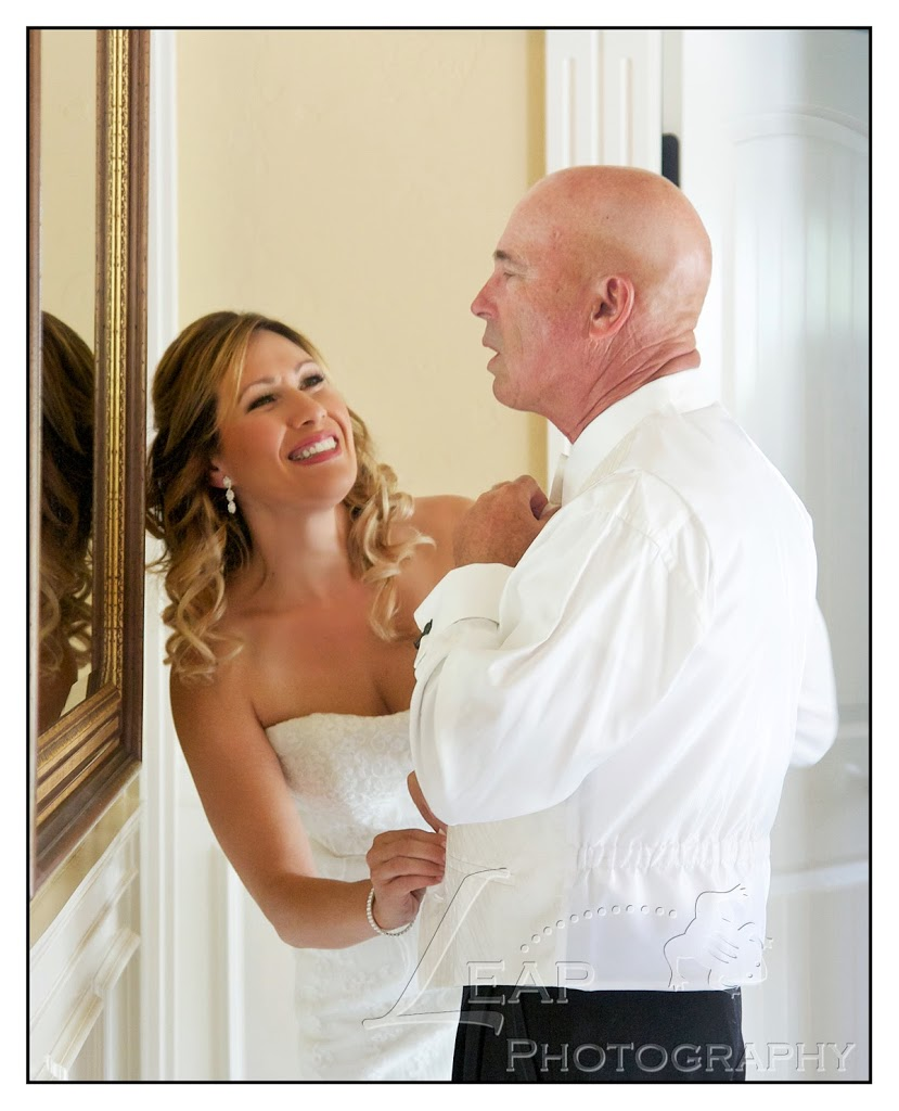 couple getting ready before Boise wedding