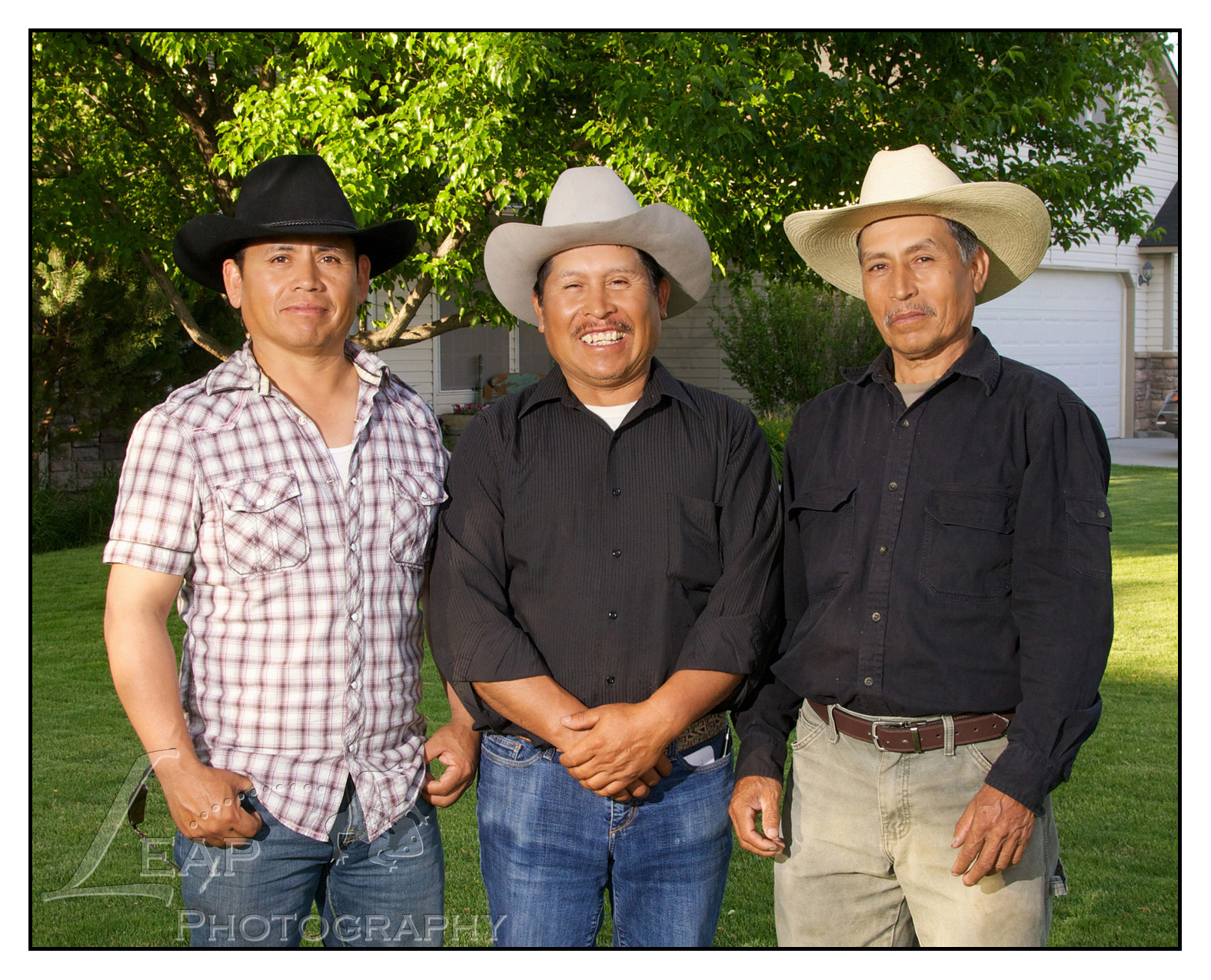 3 brothers in portrait together, Boise family photographers