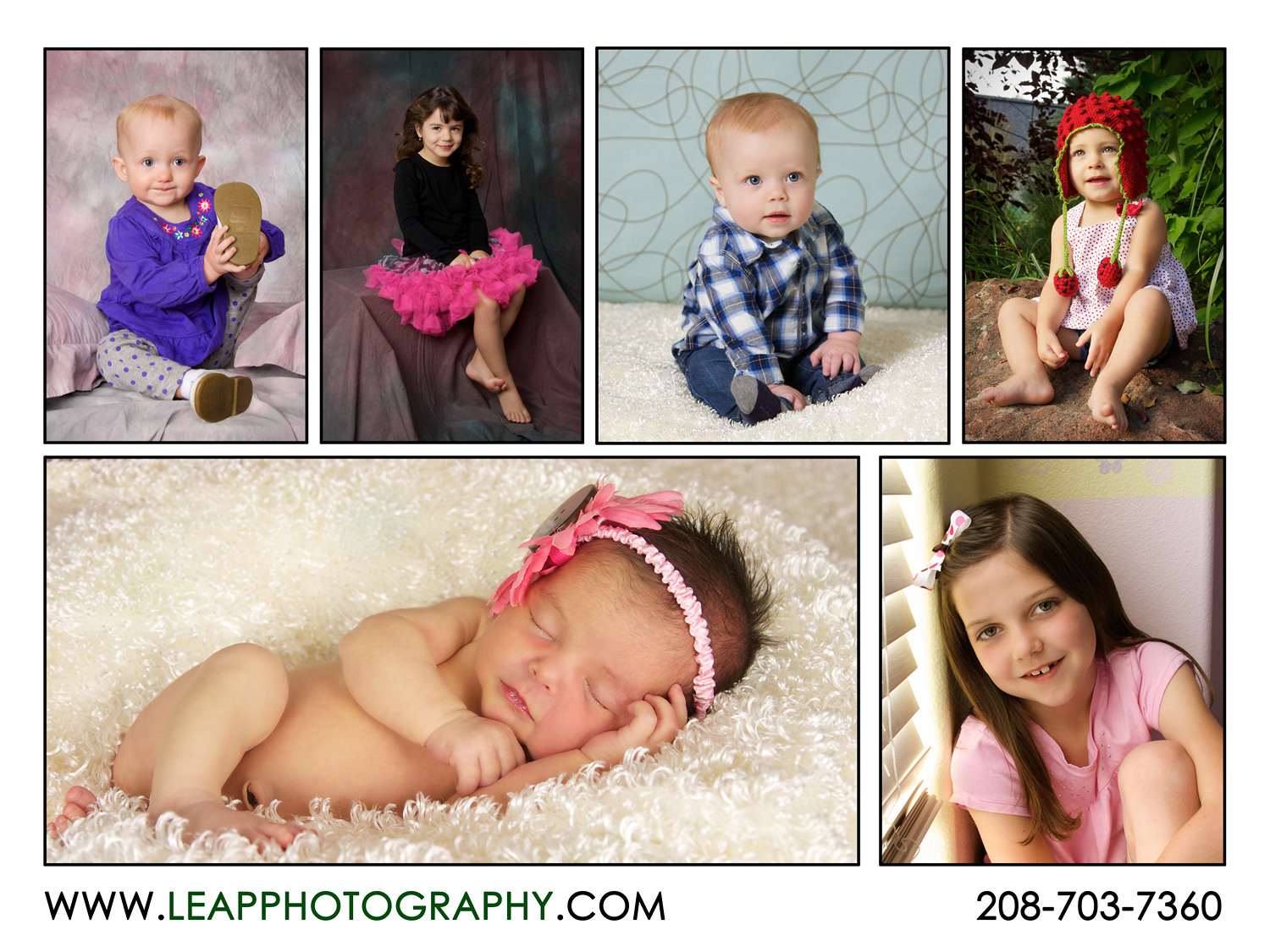 Children's portraits, studio, home portraiture and outdoor portraits in Boise Idaho