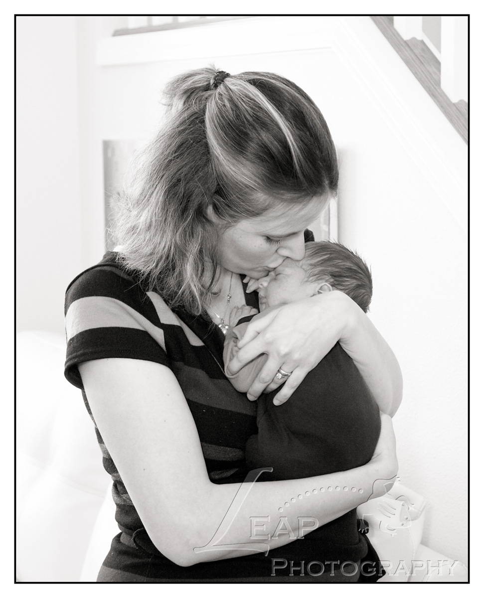 Boise mother with her newborn son