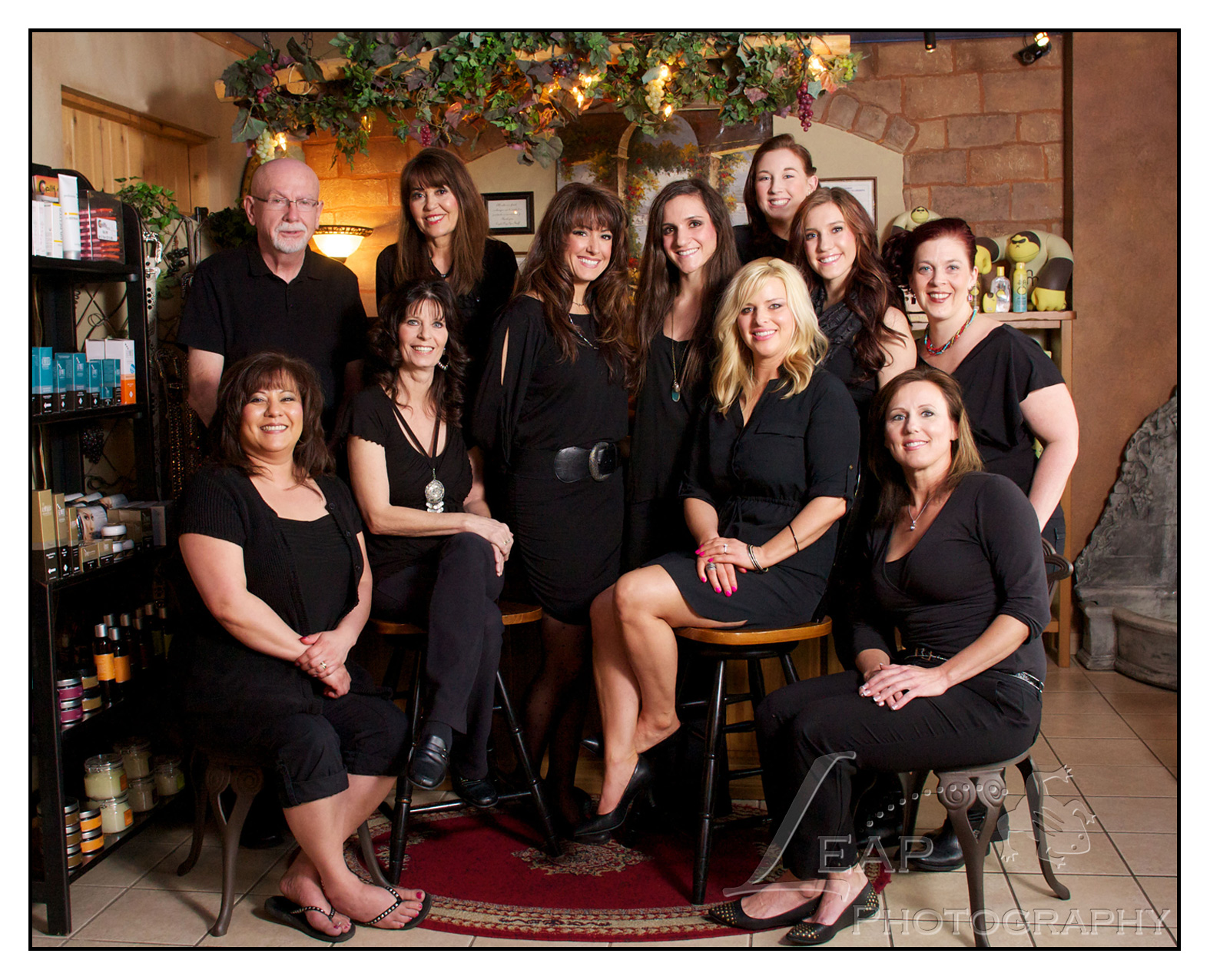Eagle Day Spa employees group photo