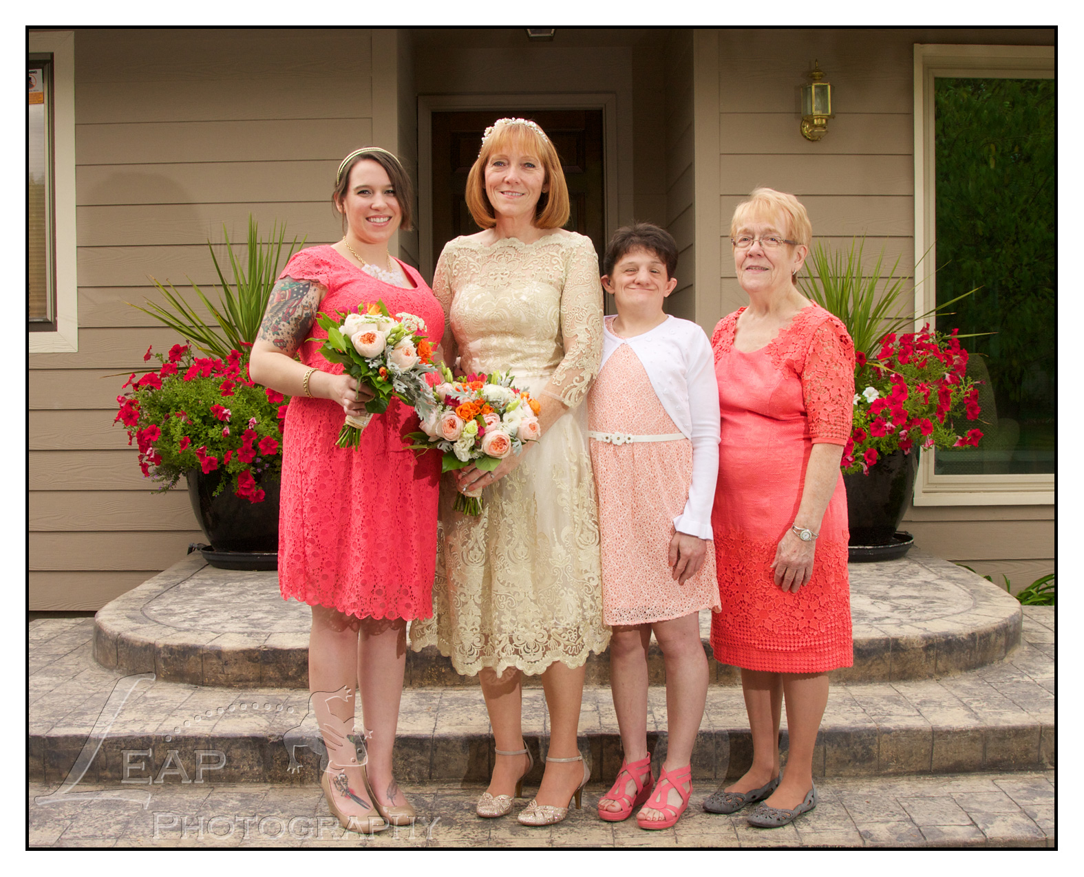 Bride with her bridesmaids at Boise Wedding