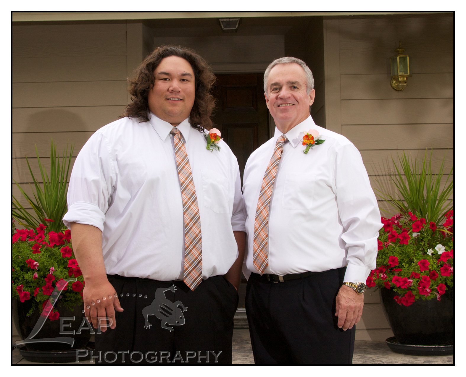 Groom and his best man at Boise Wedding