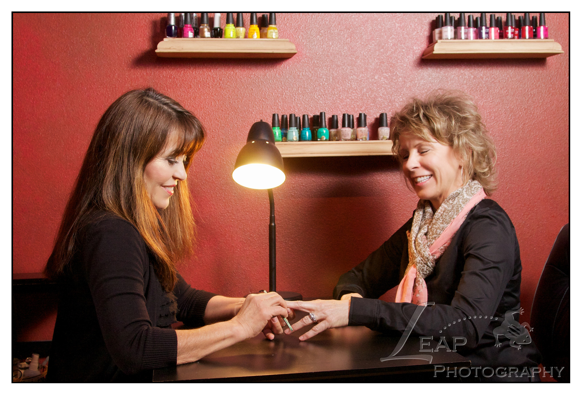 photo of a manicure in process