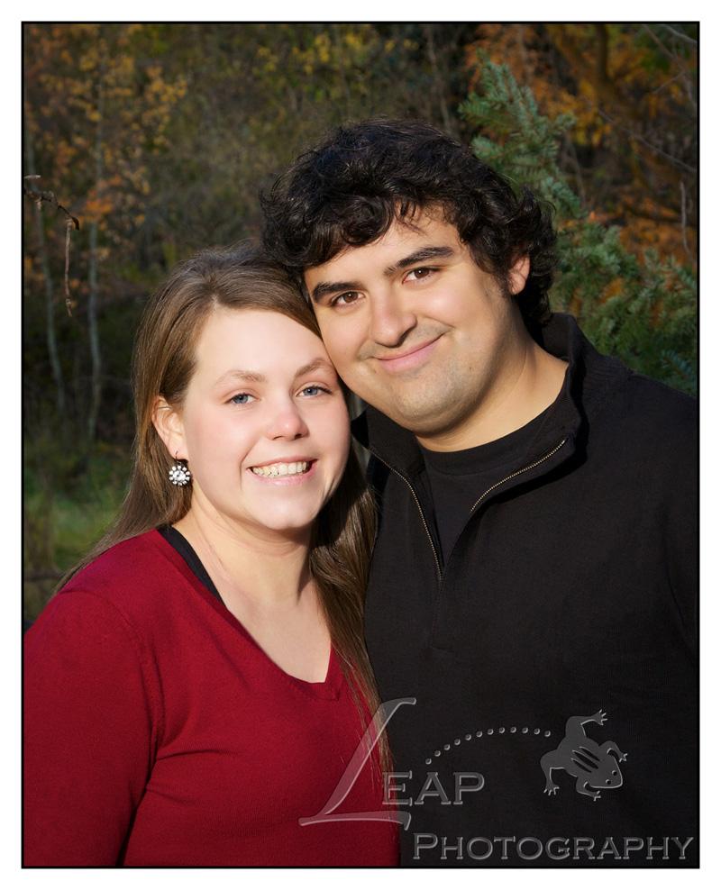 portrait of couple, Boise, Kathryn Albertson Park