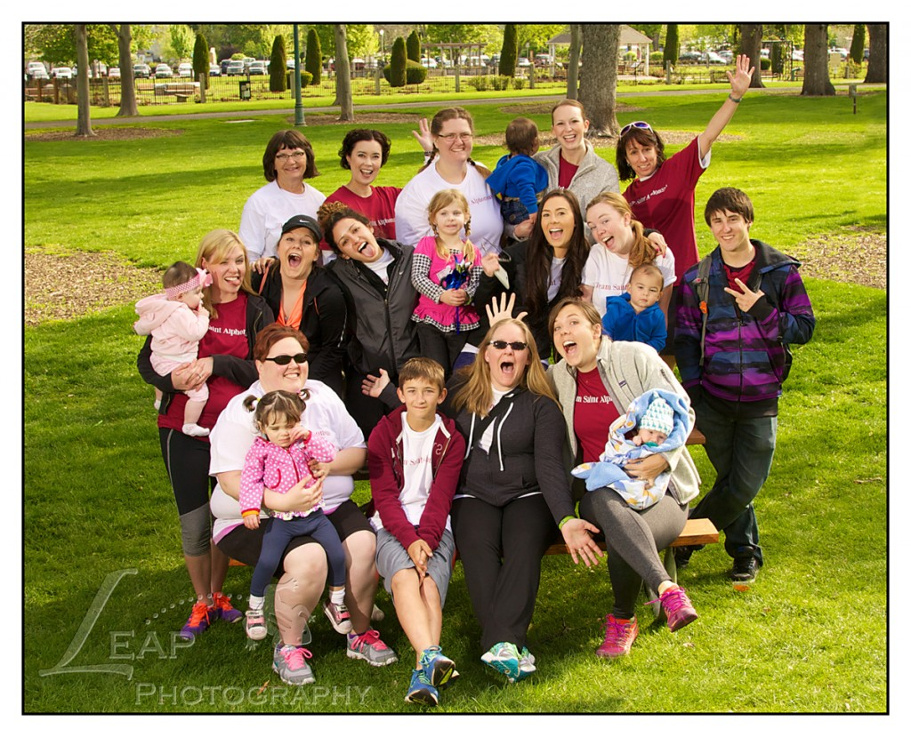St. Lukes Nicu team photo at March for Babies