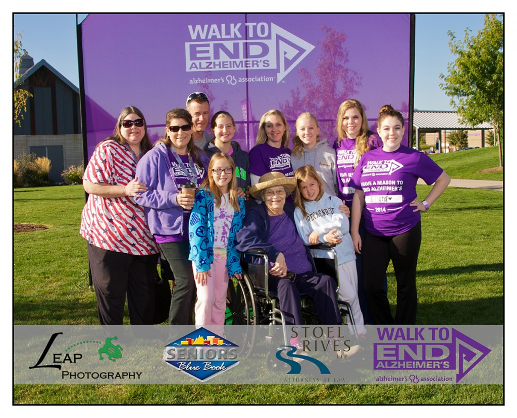 team photo of group at the Boise Walk to End Alzheimer's