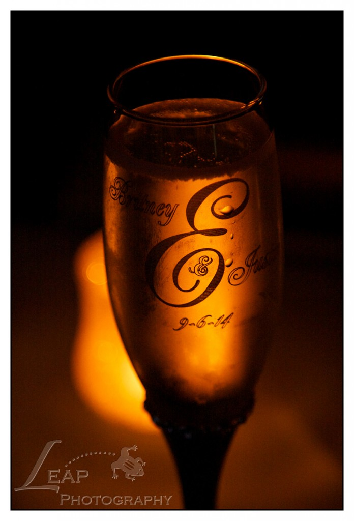 Monogrammed champagne glass
