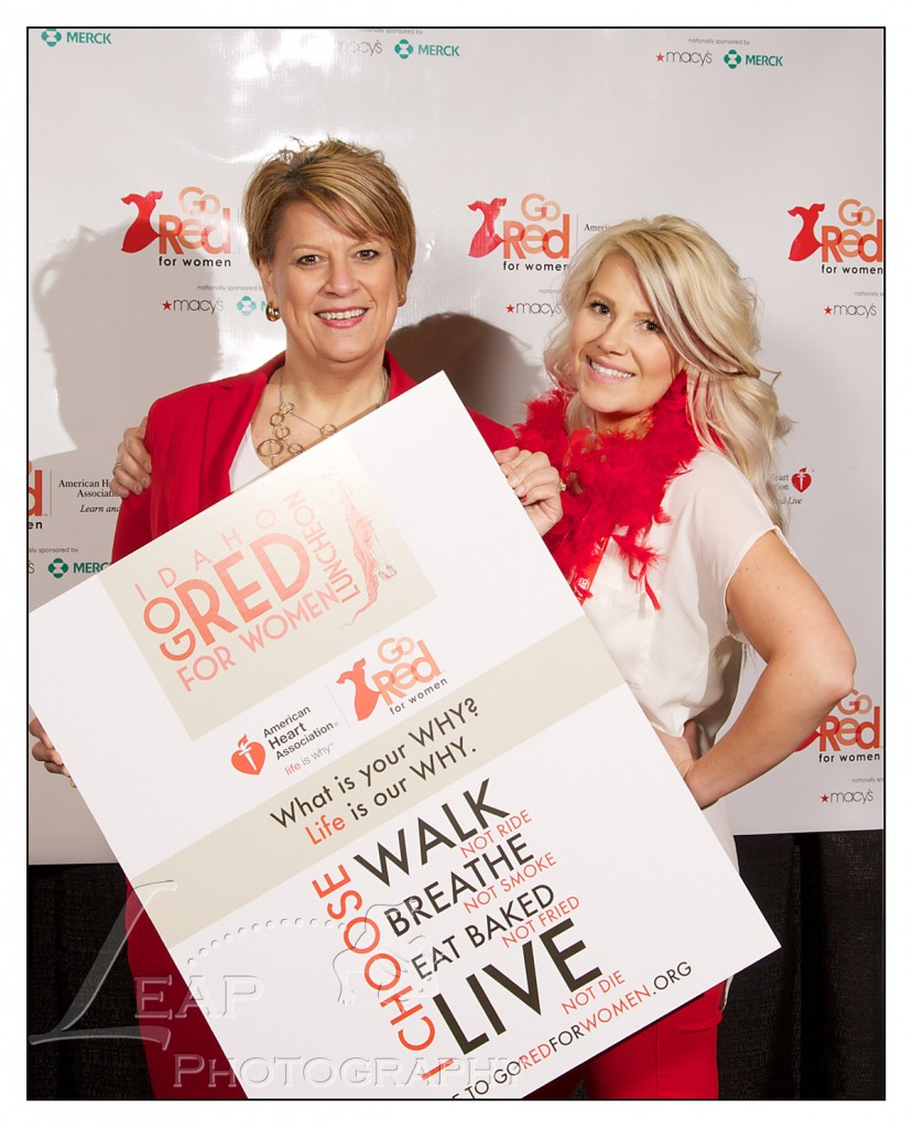 portrait of two women at Boise Go Red For Women Luncheon