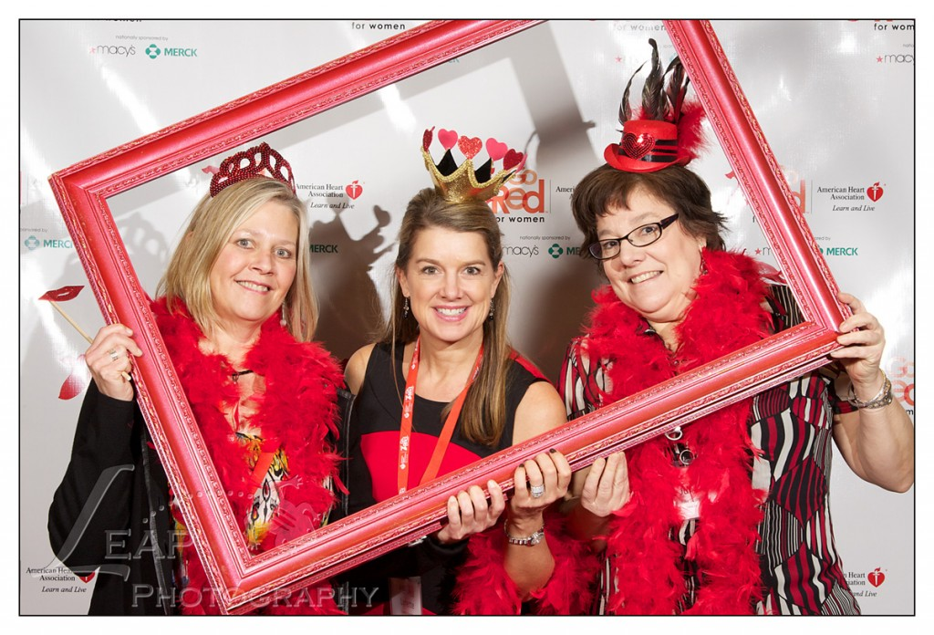 portrait of three women at Go Red For Women Boise