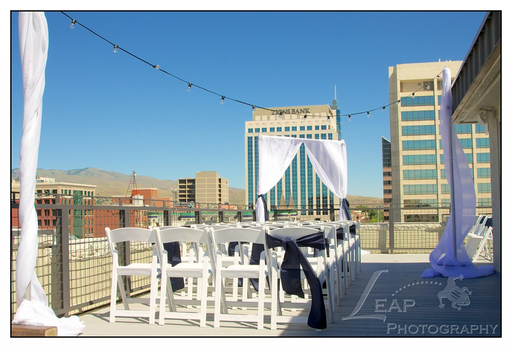 Ceremony Decor on Owyhee rooftop