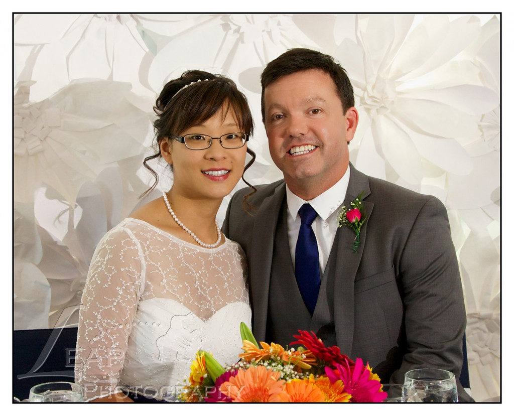 portrait of Boise Bride and Groom