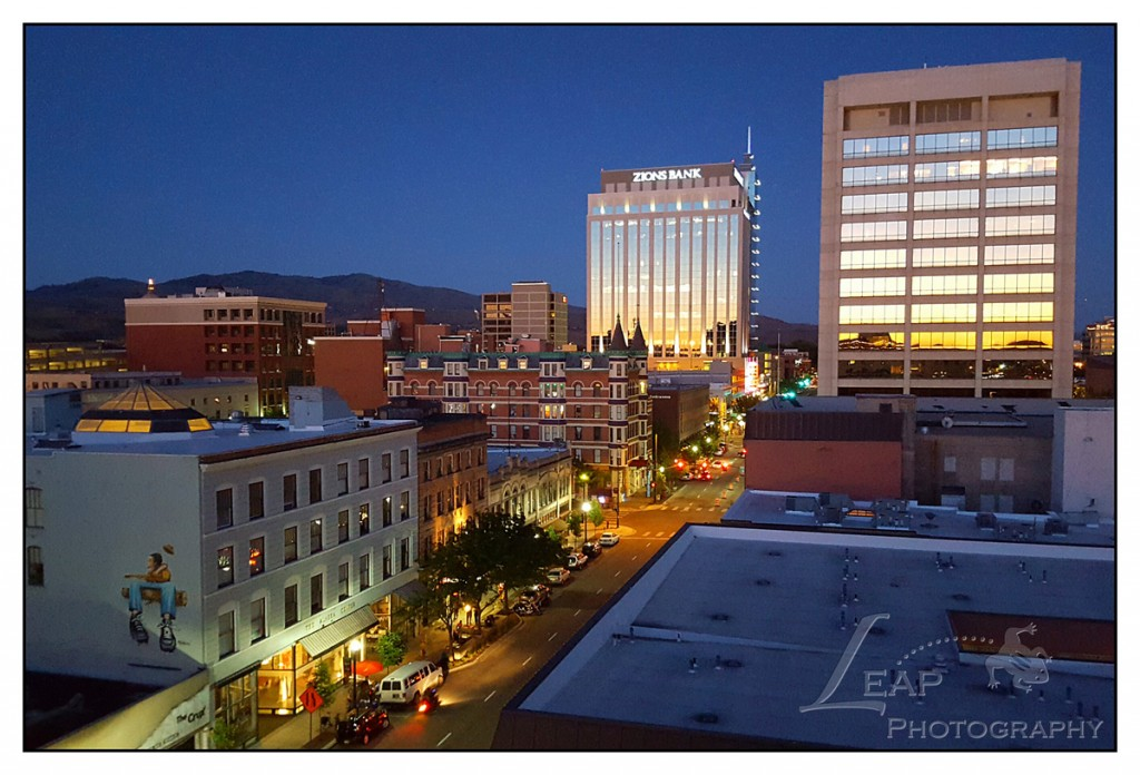 view from the Owyhee Plaza rooftop