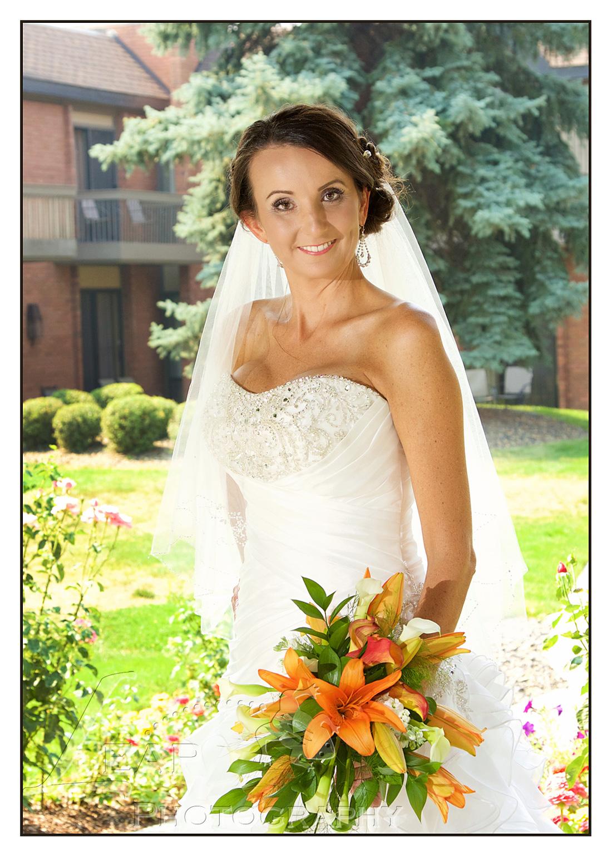 Boise bride on wedding day