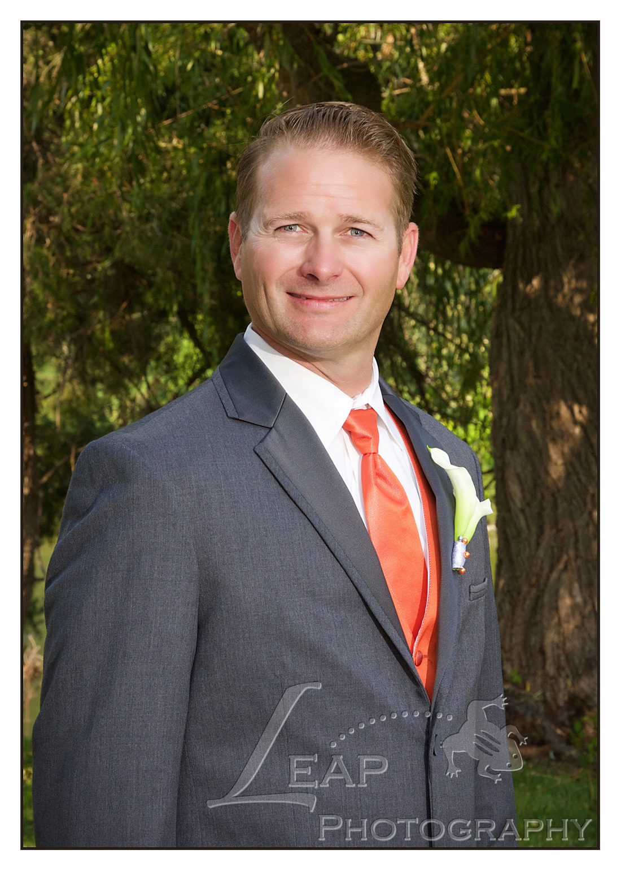 Groom at Boise Wedding, location: Riverside Hotel