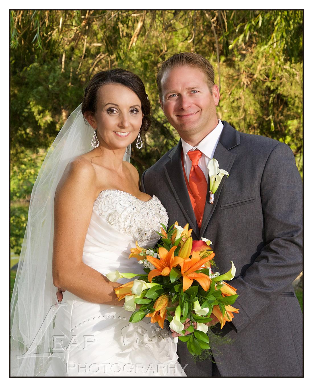 Boise couple on their wedding day