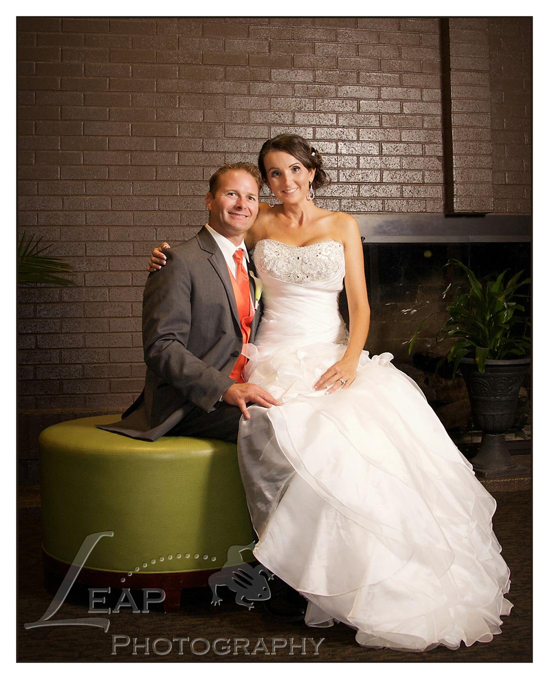 Wedding Portrait in Riverside Hotel