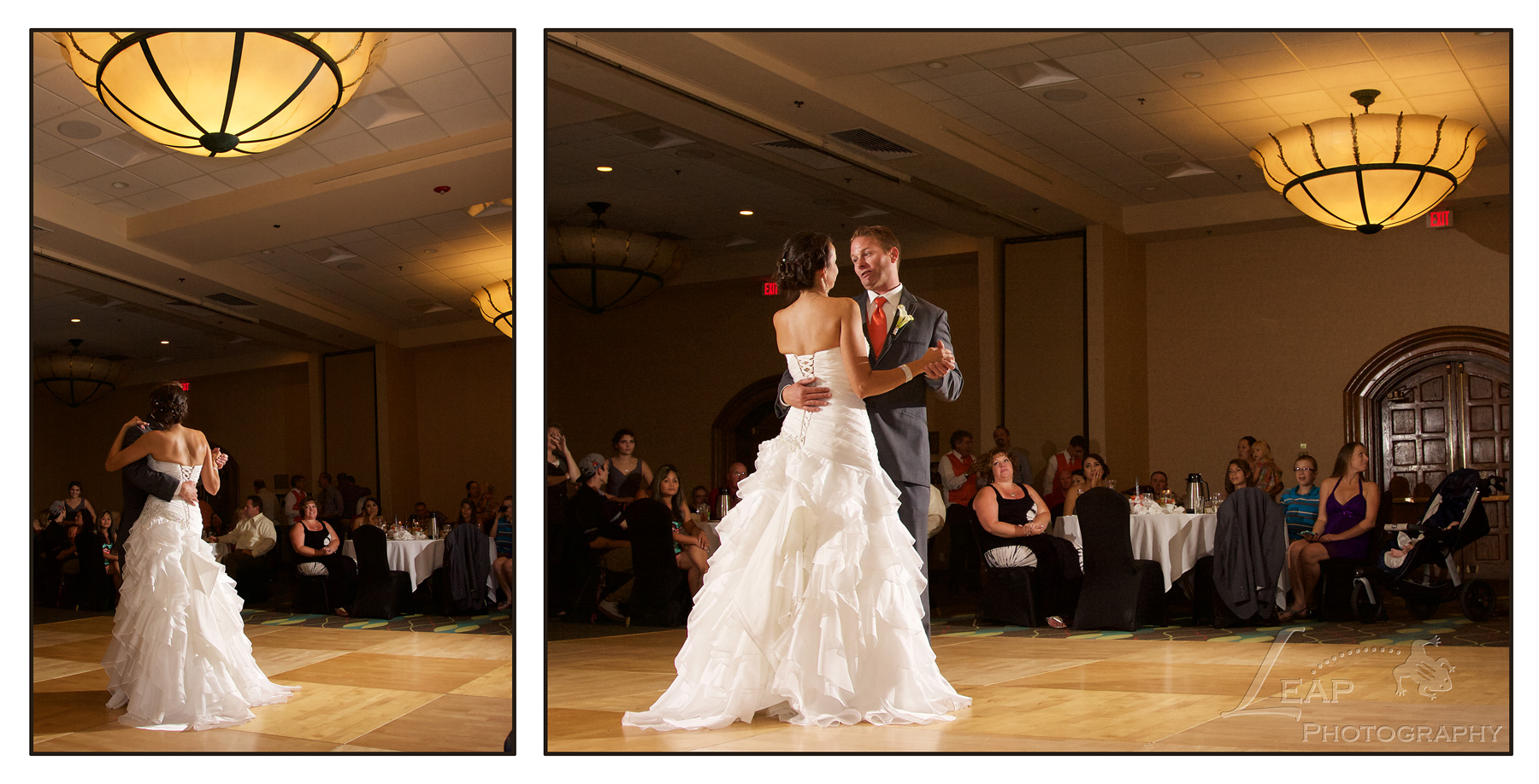 First Dance in Riverside Hotel Ballroom
