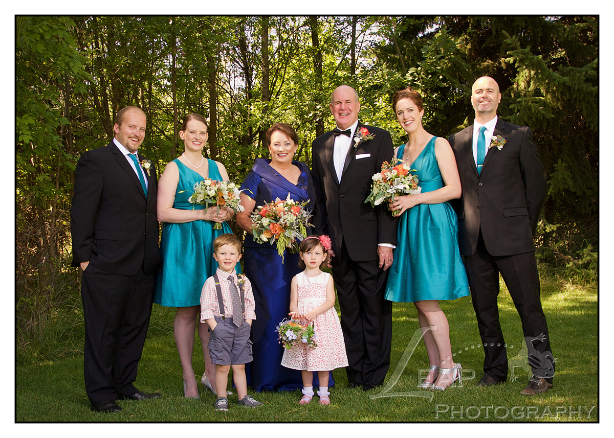 bridal party portrait in Kathryn Albertson Park