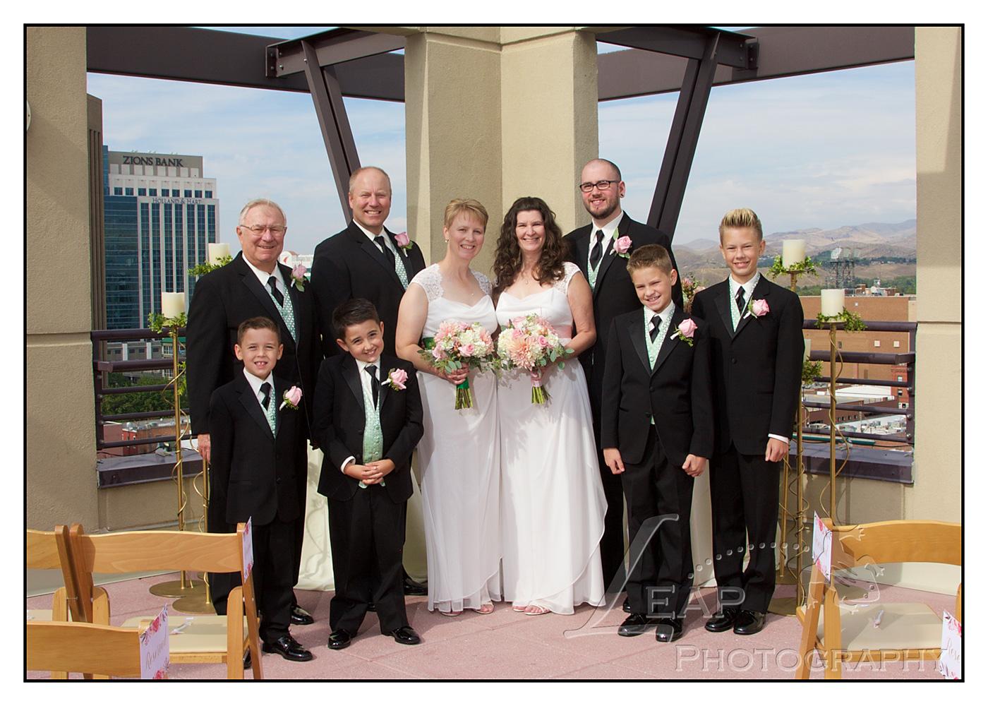 Groomsmen in same sex Boise Idaho wedding