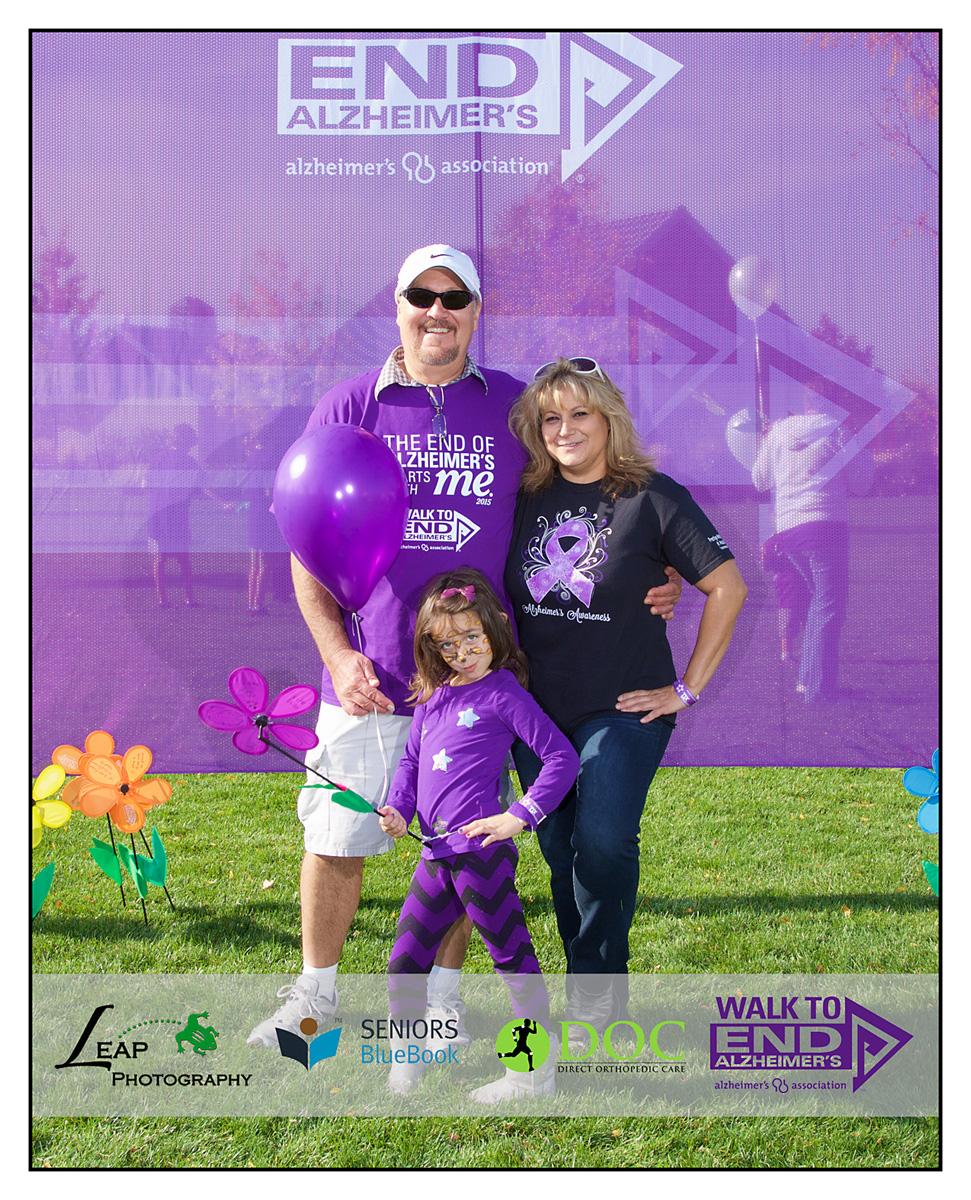 family portrait at charity walk