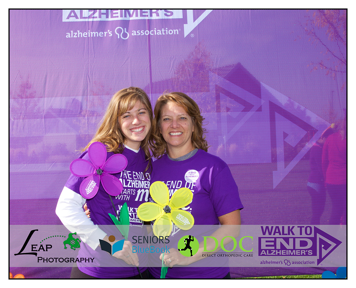 two women at boise charity walk